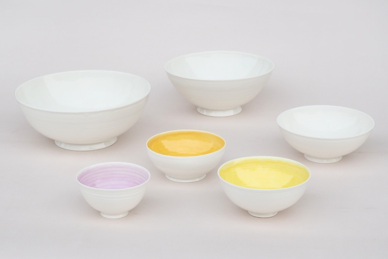 Schalen aus Porzellan